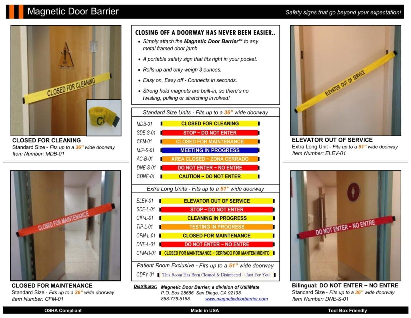 Line Card - Magnetic Door Barrier 200331-1